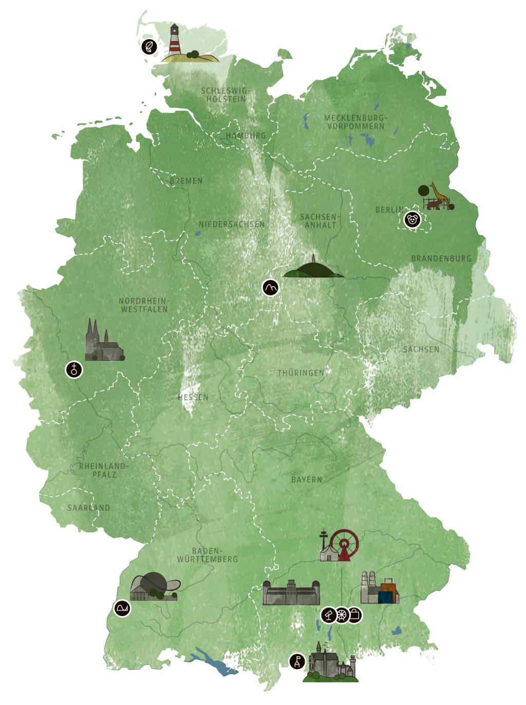 Hamburg Karte Sehenswurdigkeiten.Die Beliebtesten Sehenswurdigkeiten In Deutschland Reise