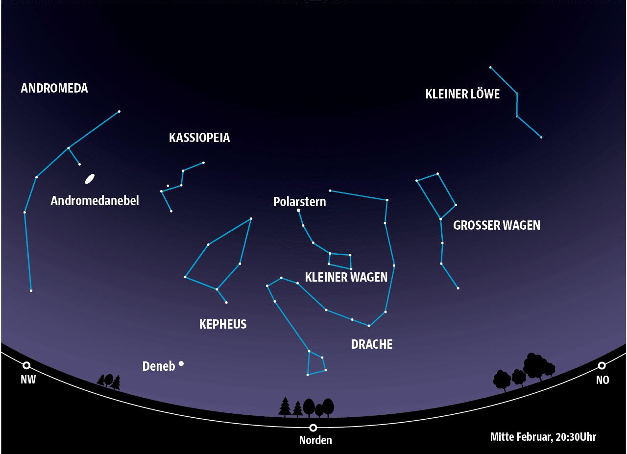 Astronomie   Sternenhimmel Februar   Panorama   SZ.de