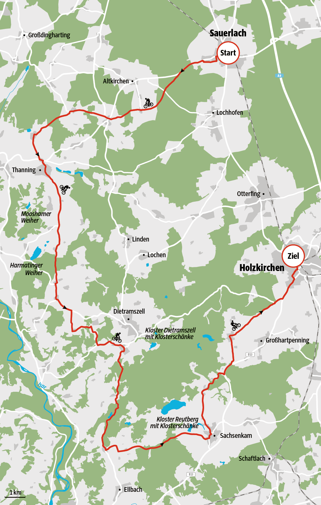 Radtour bei München: Von Sauerlach nach Holzkirchen - Bayern ...