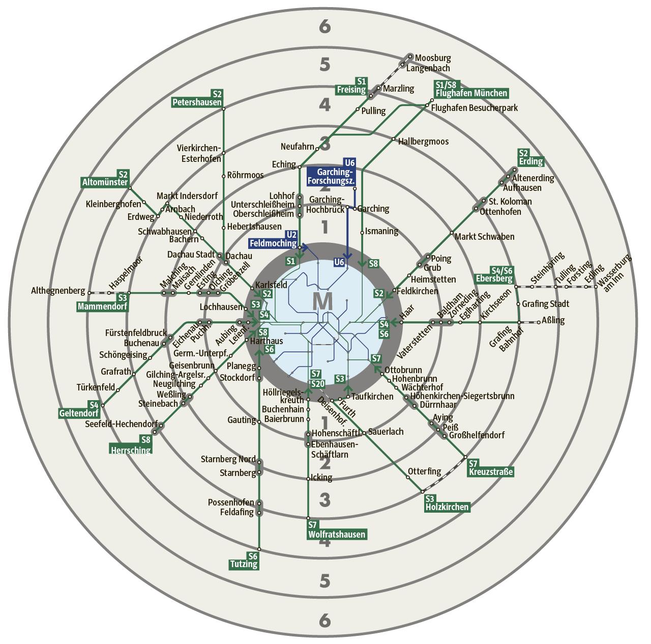 Mvv Zonen Karte.Mvv Tarifreform Das System Wird Einfacher Munchen