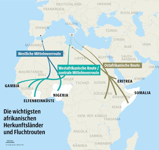 Top Die wichtigsten Fluchtrouten aus Afrika - Politik - Süddeutsche.de #XT_88